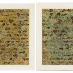 Natura XXXII-a Natura XXXII-b, Dried plants, brass-copper-silver leaf, acids, chemical solutions and acrylic medium on canvas ( 30 x 43 cm ) 2015