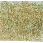 Natura XXXVIII, Dried plants, brass-copper-silver leaf, acids, chemical solutions and acrylic medium on canvas ( 22 x 31 cm ) 2015